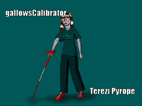 Hastily-coloured Terezi by NekkoJin