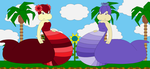 Maroon and Dawn the Super Nagas pic by Bowser14456