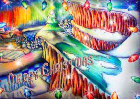 Merry Xmas:Frozen Factory Zone - Colouring Pencils by supersonicartdrawer
