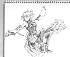 Aqua Quick Sketch (pen) by StarSeekerSara