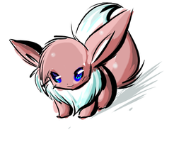 The red Eevee by Kiotii