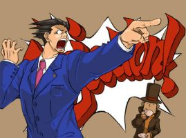 Layton vs. Wright by Spelarminlind