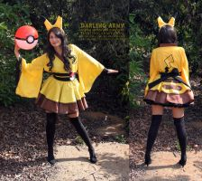 Pikachu Cosplay Wa Lolita Kimono Dress by DarlingArmy