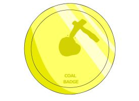 Coal Badge by RyuPointGame