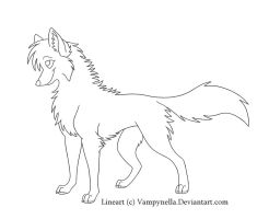 Free Wolf Lineart 2 by Vampynella