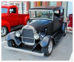 Flat Black Ford Street Rod by TheMan268