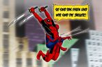 Attack on Spideypool by Red-Flare