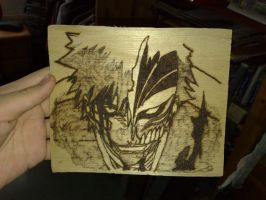 ichigo wood burned by orgxiiifreak