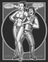 LEIA SLAVE and HAN SOLO 1 by GOODGIRLART
