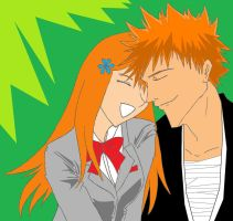 Ichigo And Orihime by OrdinarySnowflake