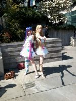 Panty and Stocking cosplayers by Neonmoon133