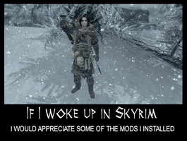 If I woke up in Skyrim 17 by Cinn-Ransome