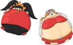 Ashley and Mona inflated by JuacoProductionsArts