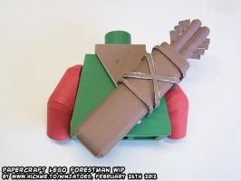 LEGO Forestman papercraft arrow quiver test build by ninjatoespapercraft