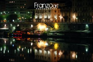 Murazzi by night by Franzoart