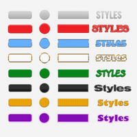 8 Button Styles by xara24
