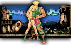 Cammy and Guile by Janus3003