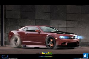 2010 Chevrolet Camaro Burnout by CrazyPXT