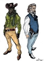 Django and King by ufficiosulretro