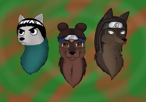 Naruto Wolves: Team 9 by xXAkilaXx