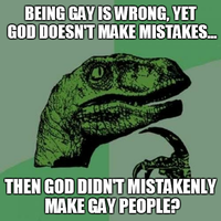 Philosoraptor - God and Gay People by INF3CT3D-D3M0N