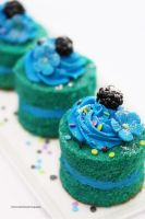 Green Velvet Cake Minis by theresahelmer