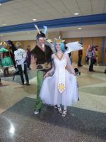 Celestia and Discord by Ace-of-Fours-Cosplay