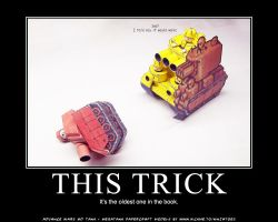 AW papercraft oldest trick by ninjatoespapercraft