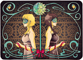 Art Nouveau - Venetian twins by BlueShining