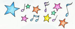Musical Notes and Stars 2 by mypetsally