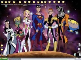 Legion of Superheroes desktop by crazydancer