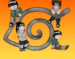 chibi  team gai by Shin2468