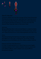 Knight's Chaos Blade Contest Entry: Devil's Bustr by StripeTH