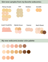 Webcomic Skin Tones by AtlantaJones