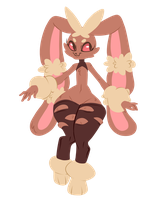 Mega lopunny by Spookie-Sweets