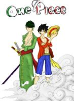 Luffy and Zoro 2y by Ruk1z