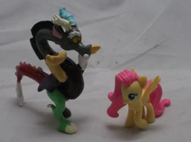 Discord and Fluttershy by Gryphyn-Bloodheart