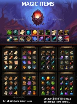 Magic Items by GraphicAssets