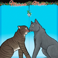 Under the Mistletoe ~ Salvatrix and Exikiel by Lucernne