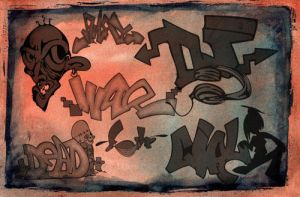 Graffiti Letters-PS Brushes by fiftyfivepixels