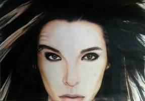 Bill Kaulitz drawing (process..... almost done) by evelynsixx
