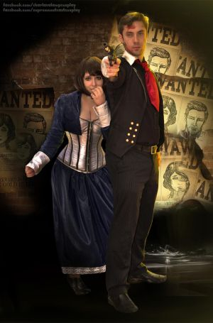WANTED: Booker and Elizabeth Cosplay by CharlightArt