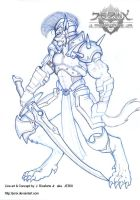 Lycan Knight - Pencil lines by jerix
