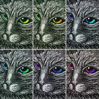 Cat Face Six  (1) by PaniaBrown