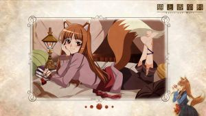 Spice and Wolf Holo (Horo) Wallpaper Pack by FadedBlackangel