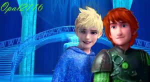 [Request] Hiccup and Jack as Elsa and Anna by opal2116