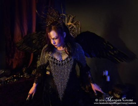 Queen of the Corvids Costume 7 by MorganCrone