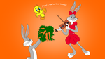 Bugs Bunny, Honey Bunny and Tweety by Ivellios1988