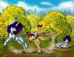 Chasing! by TurrKoise