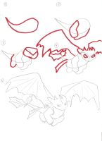 How to draw Toothless 4 by zealousshadow